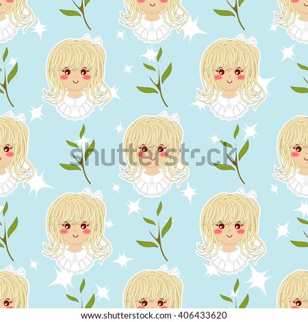 seamless vector pattern flat