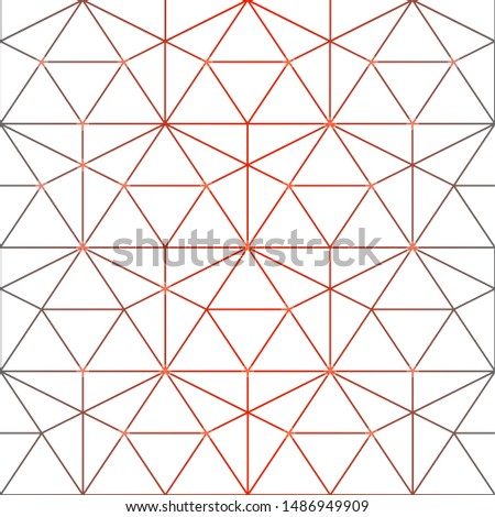 Seamless vector pattern. Geometric background with rhombus and nodes. Abstract geometric pattern. gray red color gradient texture.Seamless geometric pattern.