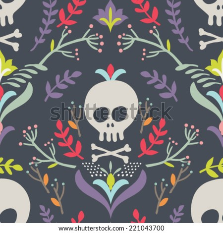 Seamless vector pattern Hand drawn Halloween background