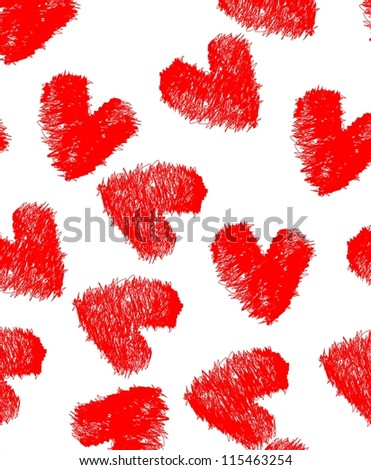 seamless vector pattern heart valentines day