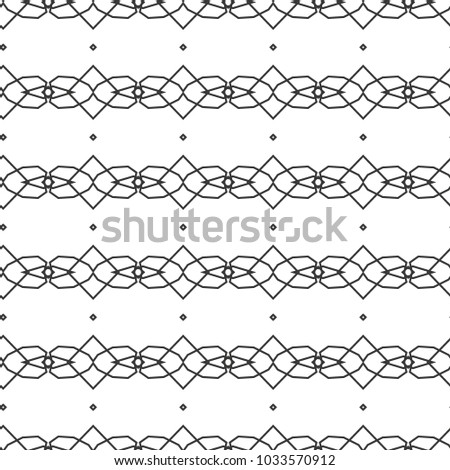 Seamless vector pattern in geometric ornamental style #1033570912