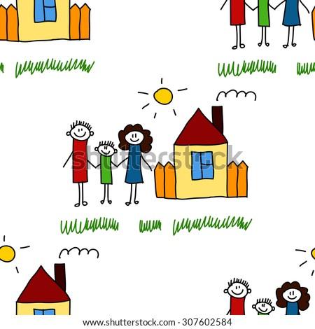 seamless vector pattern kids