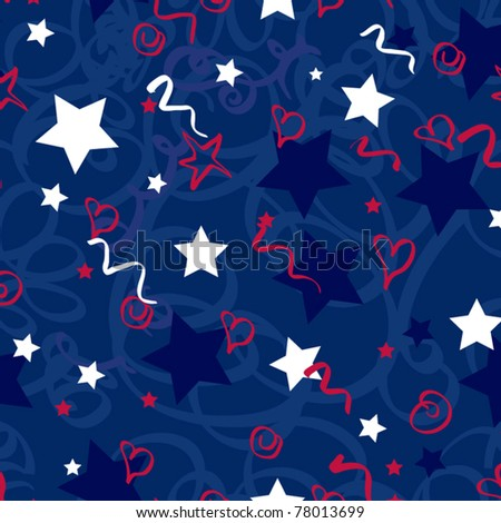 Seamless vector pattern Memorial Day