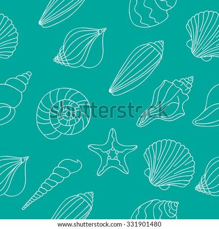 seamless vector pattern of sea