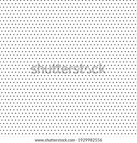 Seamless vector pattern of small black polka dots on a white background.Abstract background. Decorative print.