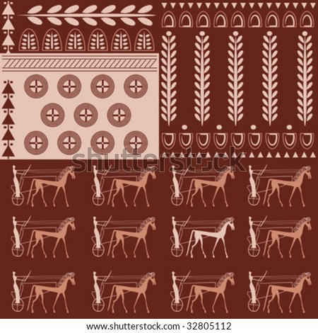 Seamless Vector Pattern on an Ancient Greek Theme