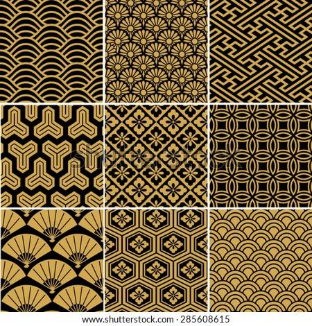 seamless vector pattern set