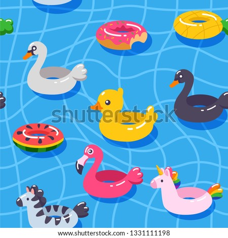 seamless vector pattern summer