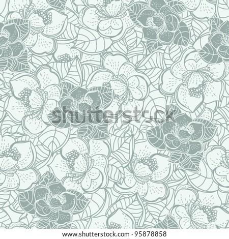 Seamless vector pattern, Wallpaper, Vector Wedding Background