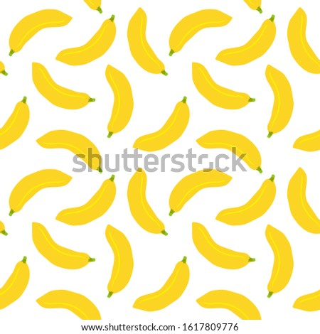 Seamless vector pattern with bananas. Seamless background.  Seamless wallpaper.