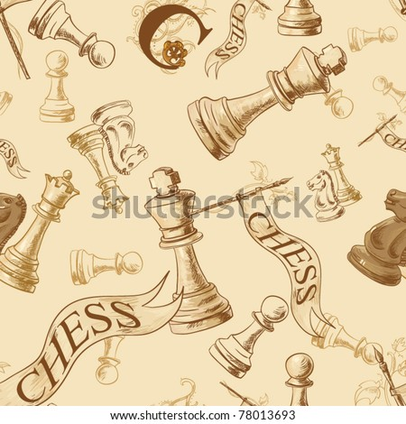 Seamless vector pattern with chess