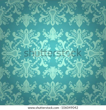 Seamless vector pattern with damask elements