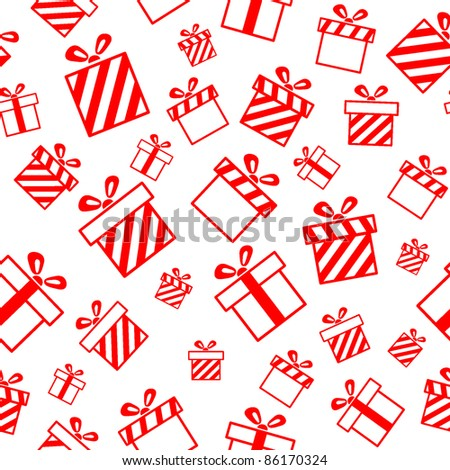 Seamless vector pattern with gift boxes EPS8