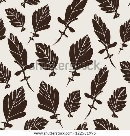 Seamless vector pattern with leaf