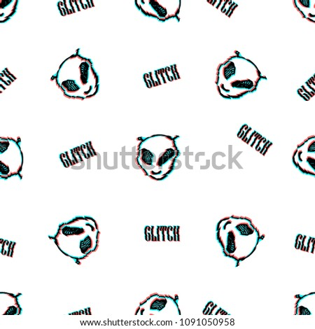 seamless vector pattern with tv