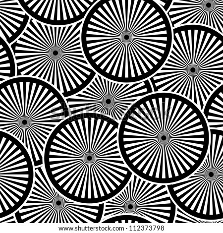 Seamless vector pattern with white and black circles EPS8