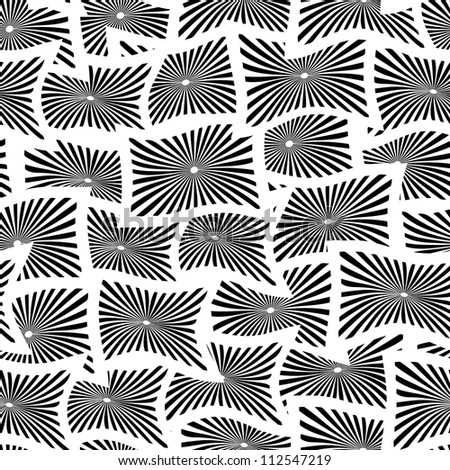 Seamless vector pattern with white and black rectangles EPS8