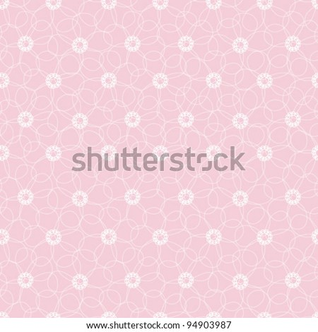 Seamless vector pattern with white flowers