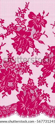 seamless vector pink lace
