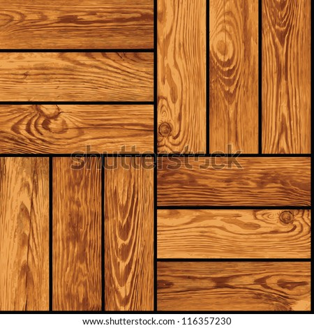 Seamless vector realistic texture - wooden parquet