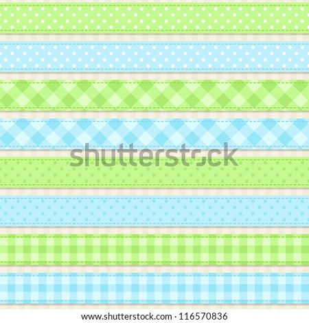 Seamless vector ribbons and borders
