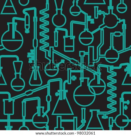 seamless vector science lab pattern