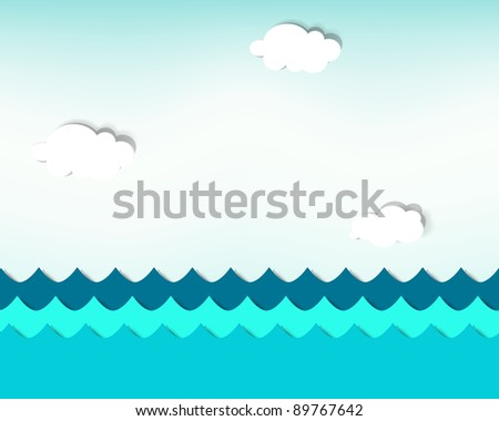seamless vector seascape