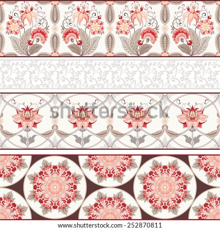 seamless vector set of four