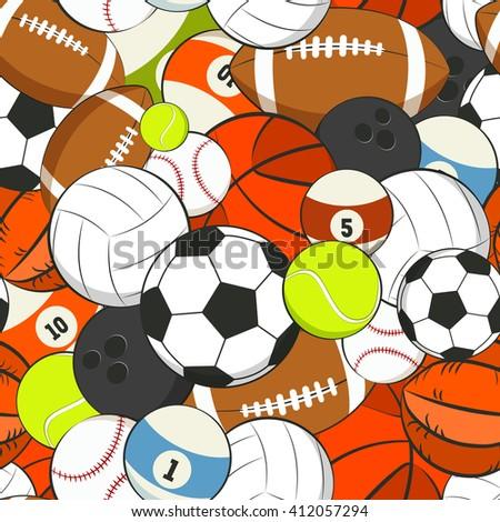seamless vector sports pattern