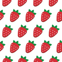 Seamless vector strawberry pattern. Design for wallpaper, textile,wrapping paper, package