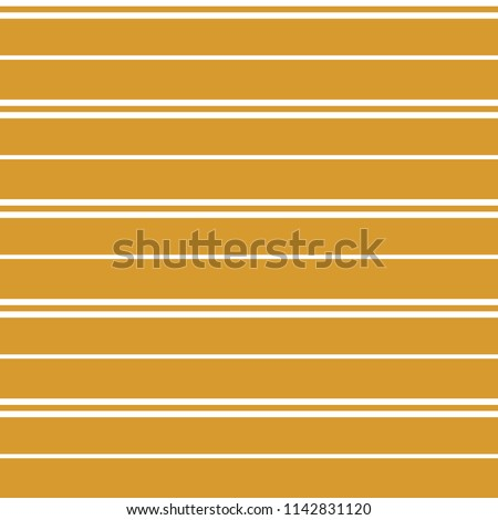 Seamless vector stripe pattern with colored horizontal parallel stripes in white with a gold background. Texture background. Surface pattern design.