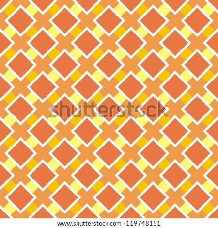 Seamless vector summer pattern or retro autumn texture. Sunny orange background for website, wallpaper, desktop, invitations, wedding or birthday card and scrapbook.