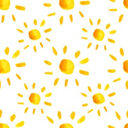Seamless vector sun pattern.