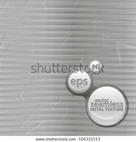Seamless vector texture as brushed and scratched metal seamless pattern