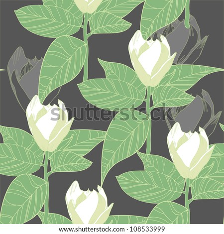 Seamless vector texture with flowers #108533999