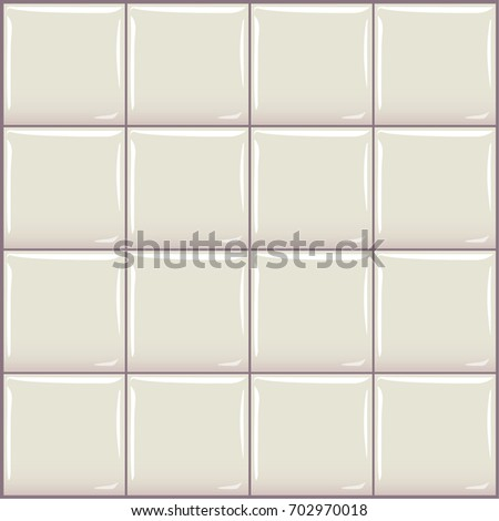 Seamless vector tile. Glossy clean square ceramic