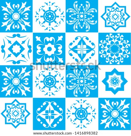 seamless vector tiles collection for beackground, wallpaper, wrapping paper, fabric