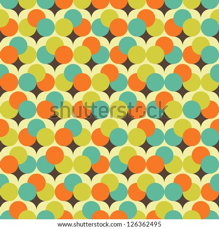 Seamless vector tiny flower tree background pattern
