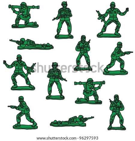 seamless vector toy soldiers