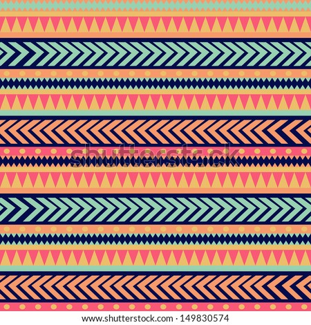 Colorful Striped Border Colorful Ethnic Striped
