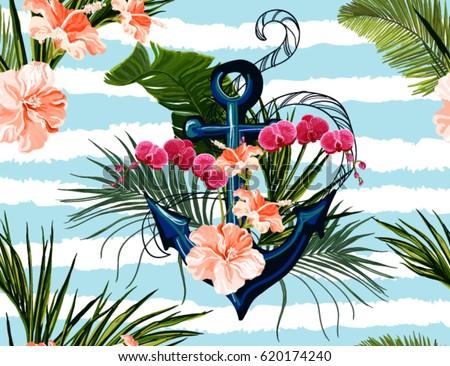 seamless vector tropical