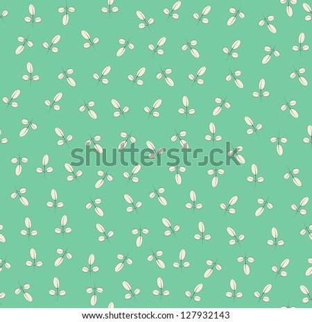 Seamless vector vintage floral leaf pattern