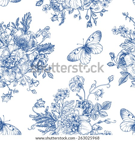 stock-vector-seamless-vector-vintage-pattern-with-bouquet-of-blue-flowers-on-a-white-background-peonies-roses