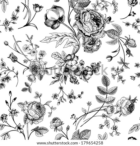 Stock Vector Seamless Vector Vintage Pattern With Victorian Bouquet Of Black Flowers On A White Background additionally Alice In Wonderland furthermore Search additionally Herbs Clipart as well Pepper stakes. on mint in the garden html