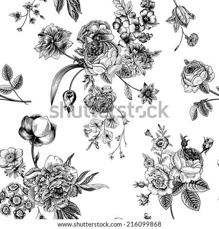 Flowers For > Black And White Flower Bouquet Clipart   Flower silhouette,  Flower stencil, Flower wall art