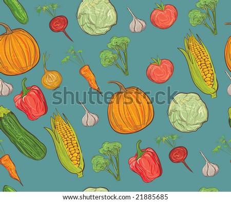 seamless vegetable pattern Stock fotó ©