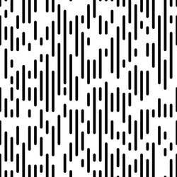 Seamless Vertical Stripe Pattern. Vector Black and White Background. Dotted Line Graphic Design