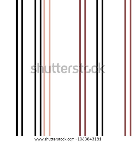 Seamless Vertical Stripe Pattern. Vector Colorful Background.
