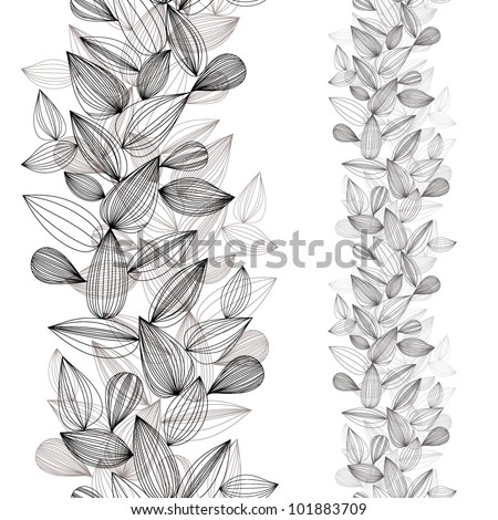 Seamless vertical vector background, design pattern.