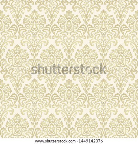 Seamless Victorian pattern. Floral Tile in turkish style. Hand drawn floral background. Vintage Wallpaper in damask style. Islam, Arabic, Indian, Ottoman motif. Vector illustration. ストックフォト ©